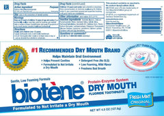 Buy Biotene Dry Mouth Toothpaste, Original Fresh Mint by GlaxoSmithKline from a SDVOSB | Dry Mouth Treatment