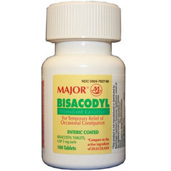 Bisacody Constipation Relief Laxative EC Tablets for Constipation Relief by Major Pharmaceuticals | Medical Supplies