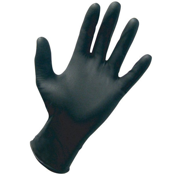 Black Beauty Black Latex Gloves, Non-Sterile 100/Box