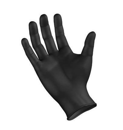 Dynarex Black Nitrile Gloves 100/Box