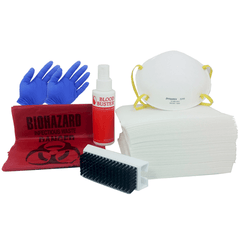 Buy Blood Stain Clean Up Kit for Carpets & Hard Surfaces by Mountainside Medical Equipment from a SDVOSB | Spill Cleanup Kit