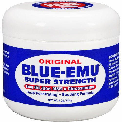 Blue Emu Super Strength Pain Relief Gel 4oz jar - Pain Relieving Gel - Mountainside Medical Equipment