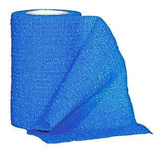 Coban Self-Adherent Wrap, Blue
