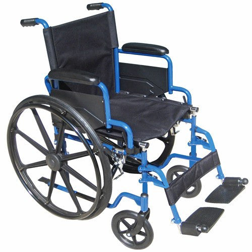 Blue Streak Wheelchair with Flip Back Arms - Wheelchairs - Mountainside Medical Equipment