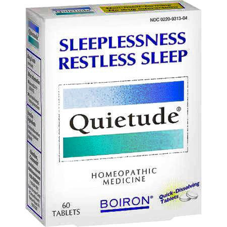 Buy Boiron Quietude Homeopathic Sleep Medicine with Coupon Code from Boiron Sale - Mountainside Medical Equipment