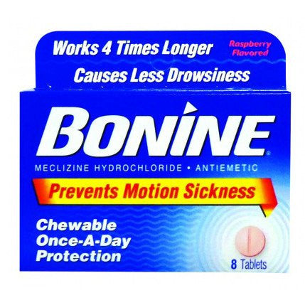 Bonine Motion Sickness Prevention Chewable Tablets