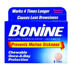 Buy Bonine Motion Sickness Prevention Chewable Tablets by Insight Pharmaceuticals LLC | Home Medical Supplies Online