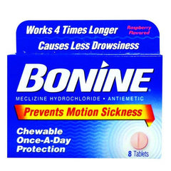 Buy Bonine Motion Sickness Prevention Chewable Tablets by Insight Pharmaceuticals LLC | SDVOSB - Mountainside Medical Equipment
