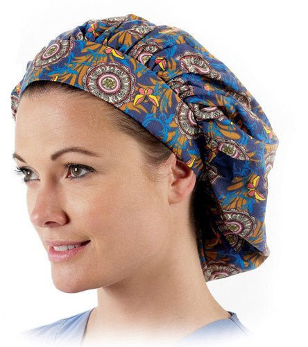 Buy Bouffant Scrub Caps with Assorted Patterns 12 Pack online used to treat Nurses Fashion Products - Medical Conditions