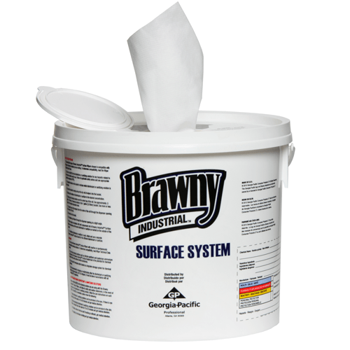 Brawny Industrial Surface Wipes, 90 Count White, 6/Case
