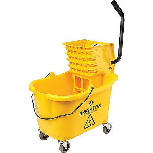 Brighton Professional Mop bucket with Side-Press Wringer, 35-Quart - Cleaning & Maintenance - Mountainside Medical Equipment