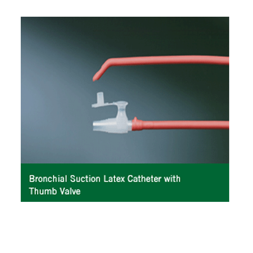 Bronchial Suction Catheter with Coude Tip