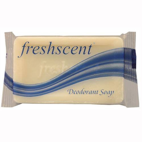 Freshscent Deodorant Bar Soap, 1000 Bars Individually Wrapped - Natural Disaster Response Supplies - Mountainside Medical Equipment