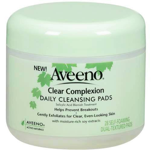 Aveeno Clear Complexion Daily Cleansing Pads, 28 Count