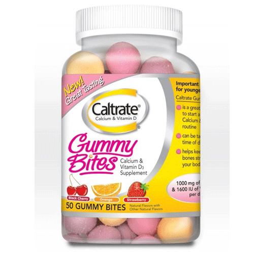 Buy Caltrate Calcium & Vitamin D Gummy Bites, 50 Count by Wyeth Pfizer | SDVOSB - Mountainside Medical Equipment
