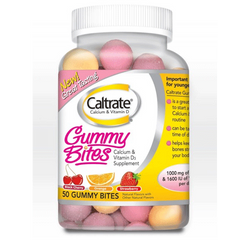 Buy Caltrate Calcium & Vitamin D Gummy Bites, 50 Count by Wyeth Pfizer online | Mountainside Medical Equipment
