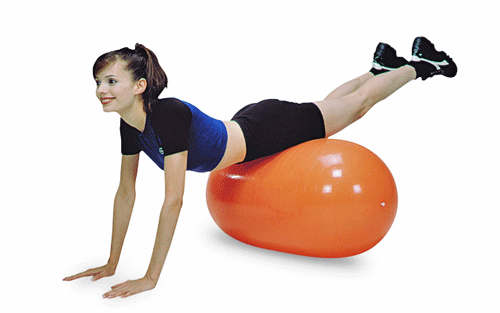 CanDo Inflatable Straight Roll for Physical Therapy by Fabrication Enterprises | Medical Supplies