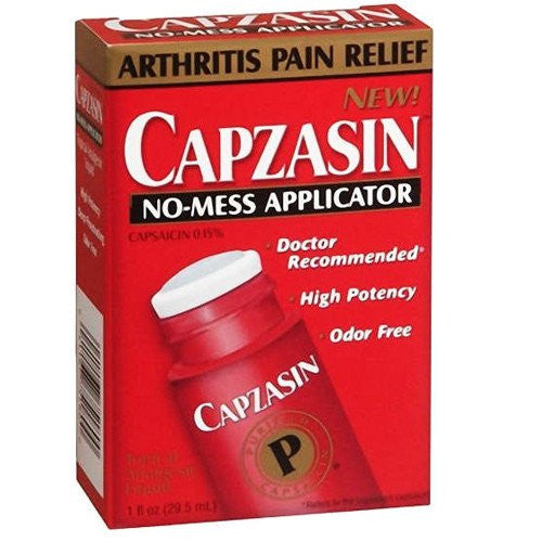 Capzasin Deep Penetrating Pain Relief No-Mess Applicator for Pain Management by Chattem | Medical Supplies
