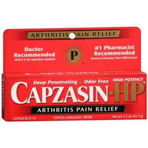 [price] Capzasin HP Arthritis Pain Relief Cream 1.5 oz used for Arthritis made by Chattem [sku]