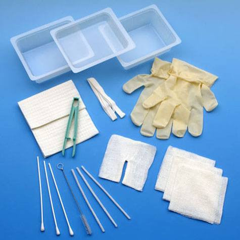 Complete Tracheostomy Cleaning Tray with Gloves - Tracheostomy Care - Mountainside Medical Equipment