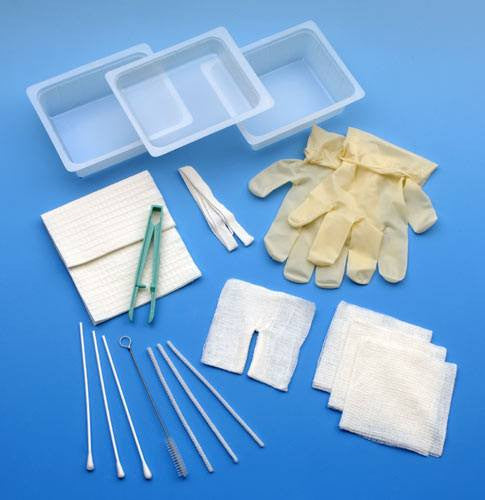 Complete Tracheostomy Cleaning Tray with Gloves