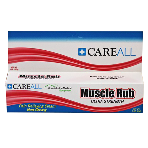 Careall Muscle Rub Cream Extra Strength, Non-Greasy Formula 3 oz - Analgesic Joint & Muscle Pain Relief - Mountainside Medical Equipment