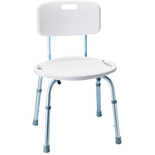 carex adjustable bath and shower chair with back