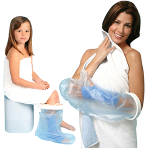 Cast Protector Shower Sleeve Bag with Rubber Gasket