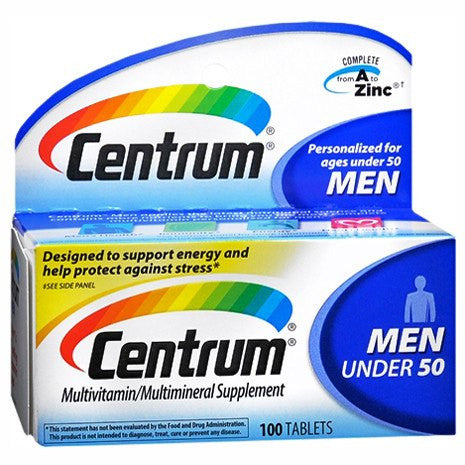 Centrum for Men Under 50 Multivitamin For Energy & Stress Relief