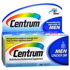 Buy Centrum for Men Under 50 Multivitamin For Energy & Stress Relief online used to treat Vitamins, Minerals & Supplements - Medical Conditions