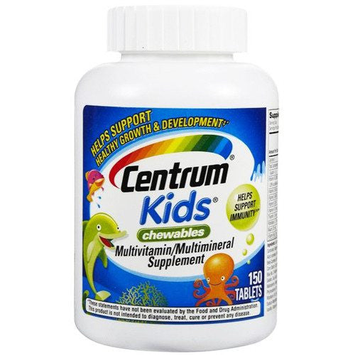 Centrum Kids Chewable Multivitamin Tablets, 80ct