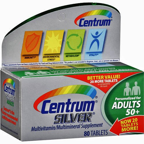 Buy Centrum Silver 50+ Multivitamin Multimineral Supplement online used to treat Multivitamin - Medical Conditions