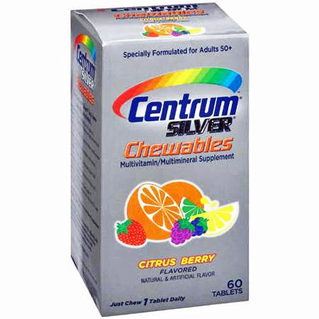 Centrum Silver Chewables Multivitamin Multimineral, Citrus Berry