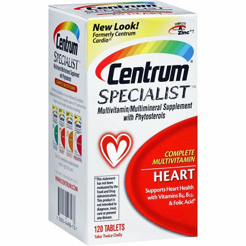 Buy Centrum Specialist Complete Heart Health Multivitamin by Pfizer | Home Medical Supplies Online