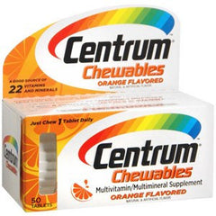 Buy Centrum Chewable Multivitamins Orange Flavored used for Multivitamin by Wyeth Pfizer