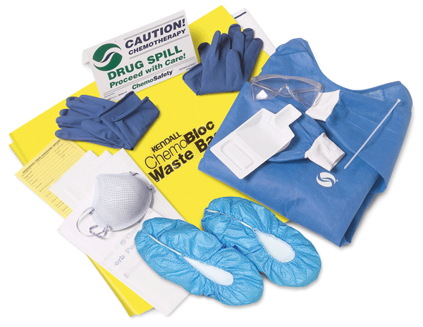 Chemotherapy Drug Spill Kits (Case of 4) - Spill Cleanup Kit - Mountainside Medical Equipment