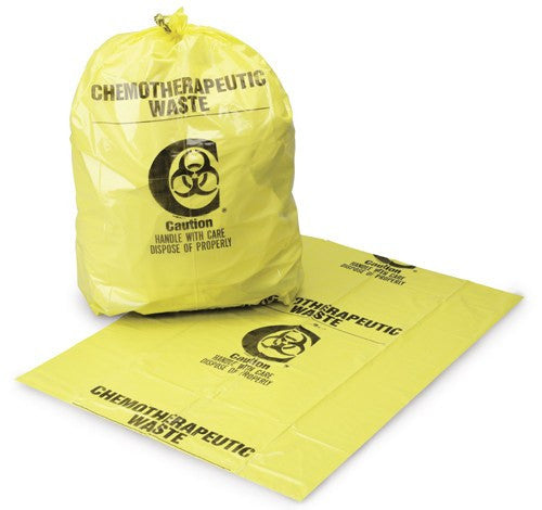 Chemotherapy Waste Handling Bags 100/case - Isolation Supplies - Mountainside Medical Equipment