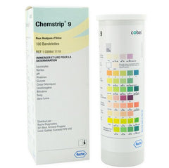 Buy Chemstrip 9 Urine Test Strips, 100/bx by Roche from a SDVOSB | Urine Reagent Test Strips