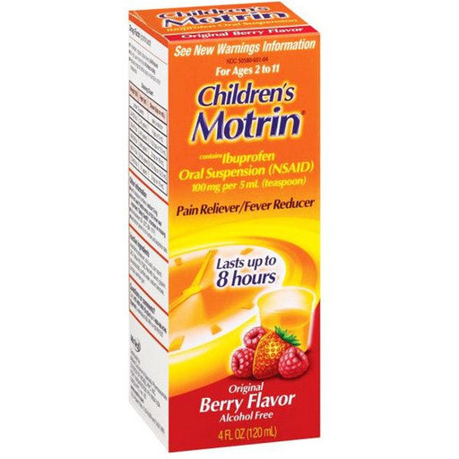 Children's Motrin Ibuprofen Liquid Oral Suspension Berry Flavor - Cold Medicine - Mountainside Medical Equipment