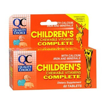 Complete Childrens Chewable Animal Shapes Multivitamins, 60 Tablets