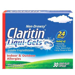 Buy Claritin 24 Hour Allergy Relief Liquigel Capsules 30ct online used to treat Allergy Relief - Medical Conditions