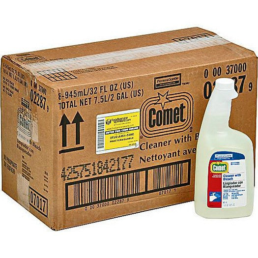 Comet Cleaner & Disinfectant Spray 32 oz with Chlorinal Bleach 8/Case