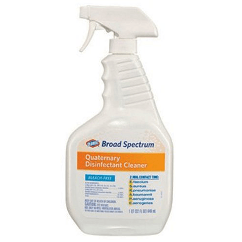 Clorox Broad Spectrum Quaternary Disinfectant Cleaner 32 oz, 9/Case for Disinfectant Spray by Lagasse Sweet (Clorox) | Medical Supplies