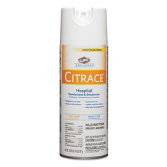 Buy Clorox Citrace Hospital Disinfectant & Deodorizer Spray Citrus 14 oz, 12/Case with Coupon Code from Lagasse Sweet (Clorox) Sale - Mountainside Medical Equipment