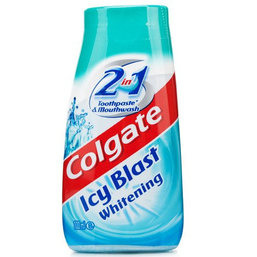 Colgate 2 in 1 Toothpaste & Mouthwash, Whitening Icy Blast