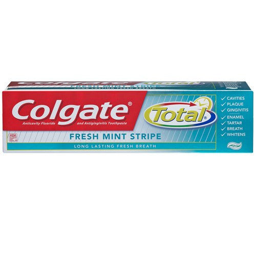 Colgate Total Fresh Mint Stripe Gel Toothpaste 7.8 oz for Dentists by Colgate | Medical Supplies