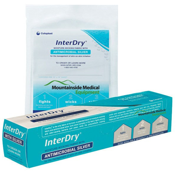 "Interdry Ag Skin Fold Dressing 10"" x 12 Foot Roll - Intertrigo Treatment - Mountainside Medical Equipment"