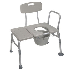 Buy Combination Transfer Bench with Commode Attached used for Transfer Benches by Drive Medical