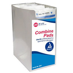 Buy Dynarex Non-Sterile Combine Pads 8 x 7 1/2 - 3512 by Dynarex from a SDVOSB | Gauze, Tapes & Bandages