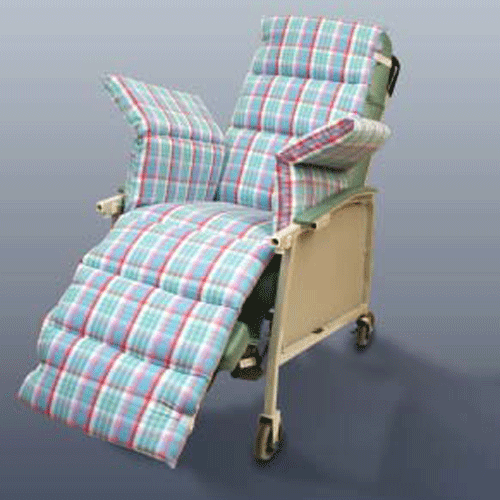 Comfort Seat Chair Overlay with Plaid Cover